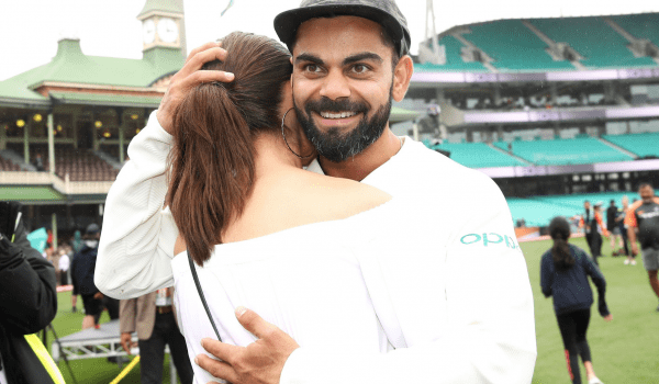 Virat Kohli and Anushka Sharma celebrate the historic win together!