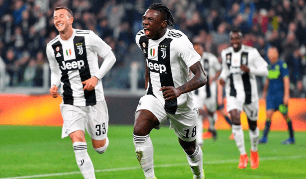Teen Moise Kean scores twice as the Champions go 19 points clear