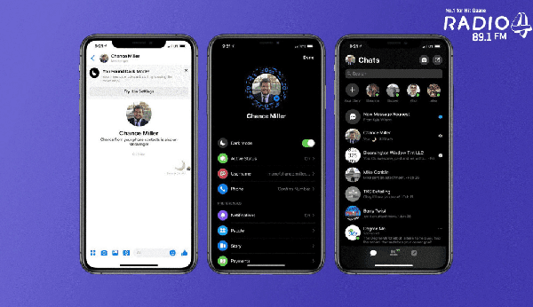 "Facebook introduces ""Dark Mode"" on Messenger"