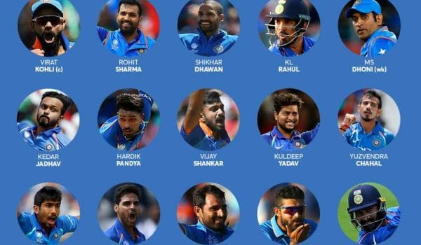 INDIAN SQUAD FOR WORLD CUP 2019 ANNOUNCED