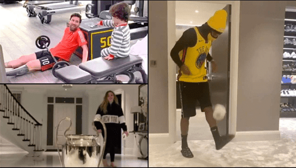 Footballers take the Stay at Home Challenge